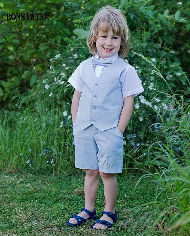 BONSIWTXN Baby Boys Black White Cotton Suit Set Kids Long Sleeve Gentlemen Style Bodysuit Kids Romper Jumpsuit Sets (Vest+Pant)