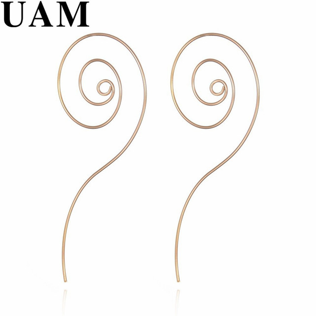 Punk Wire Eaing Simple Gold/Silver Plated Circle Spiral Drop ...