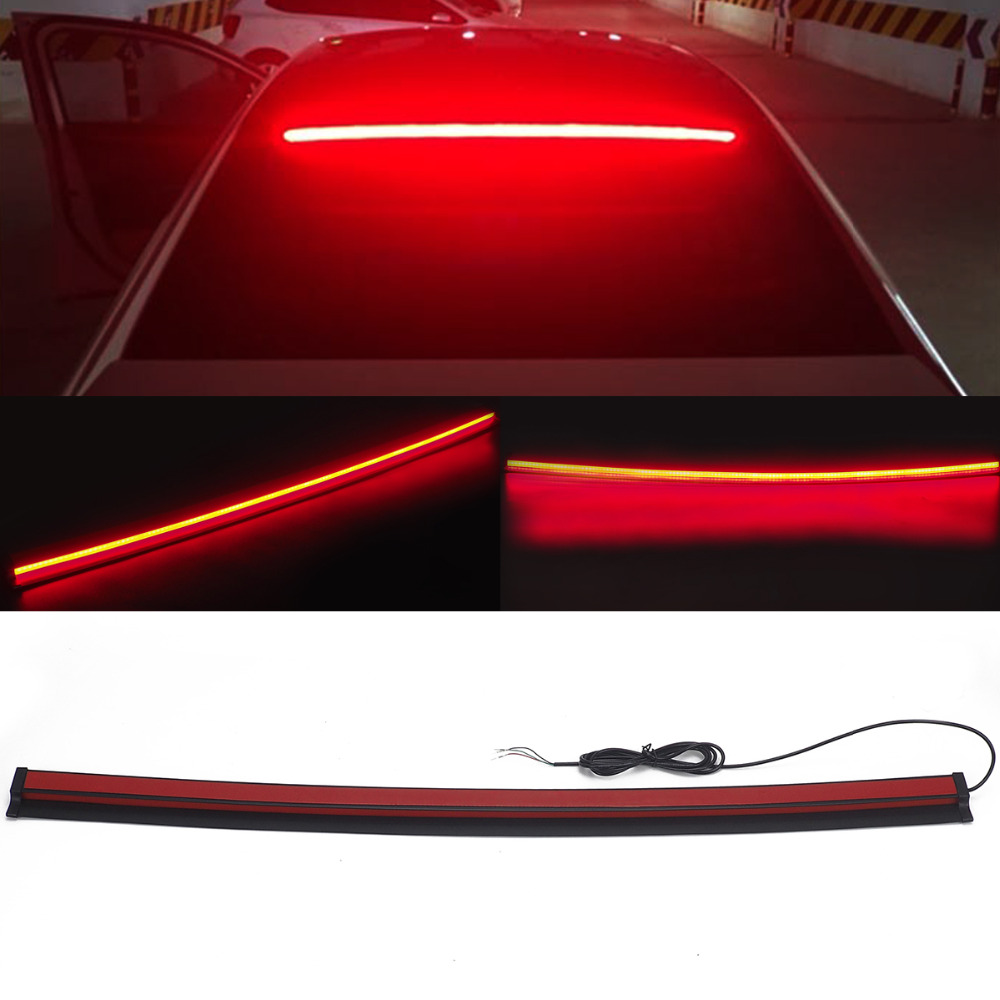 Car Styling Super Bright Red Flowing Flashing Additional Brake Lights Auto LED Stop Bean Chassis Lights for Car 12V Signal Lamps