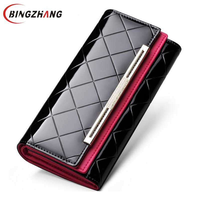 купить Women Wallets Brand Design High Quality Leather Wallet Female Hasp Fashion Dollar Price Long Women Wallets And Purses L4-2793 недорого