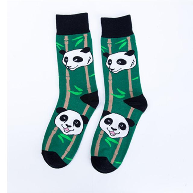 Crew Cool Cat Panda Bamboo Animal  Premium Men Women Crazy Socks Happy Short Male Cotton Pop Crazy Female Winter Warm Socks