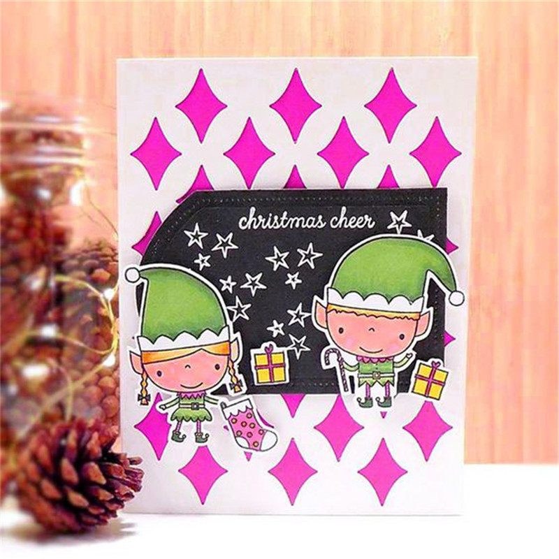 Eastshape Xmas Stamp and Dies Christmas Tree Snowman Metal Clear Stamps Cutting Scrapbooking DIY Card Cuts