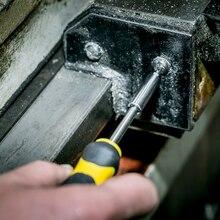 DEKO 40-Piece Hand Tool Set General Household Hand Tool Kit with Plastic Toolbox Storage Case Hammer Plier Screwdriver Knife