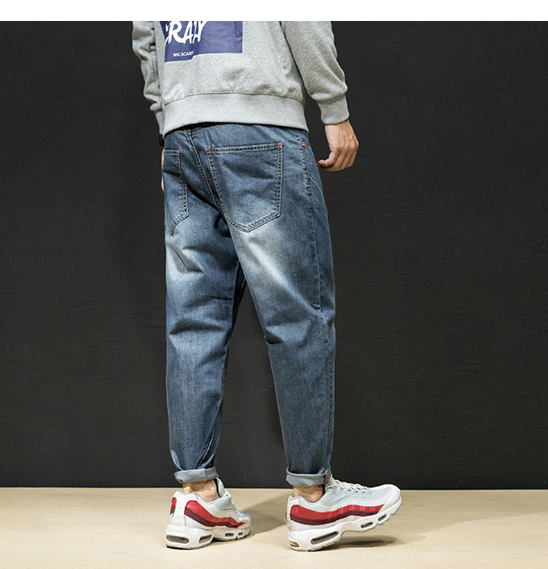 KSTUN Jeans Men Japanese Harem Pants Vintage Blue Loose Casual Hip Hop Streetwear Wide Leg Baggy Dance Punk Style Large Size 42 14