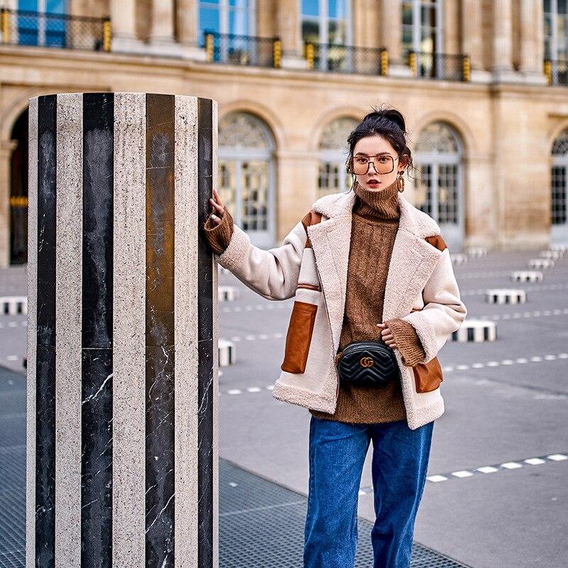 2018 Nouvelles Épaisse Vrac Manteau Patchwork Mode Laine Tempérament Doublure Chaude Picture Femmes Sauvage Extérieure De As Fourrure Veste En Hiver Régulière Tq343 The r4qaw5r