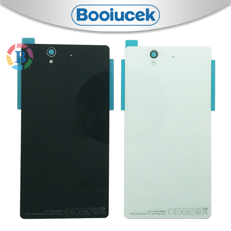 High Quality Back Cover For <font><b>Sony</b></font> <font><b>Xperia</b></font> <font><b>Z</b></font> L36H L36 C6603 <font><b>C6602</b></font> Housing <font><b>Battery</b></font> Cover Door Rear Cover Chassis Frame image