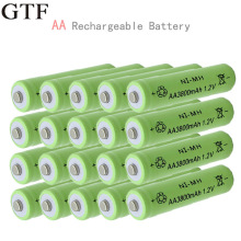 GTF 1.2V Ni-NH AA rechargeable 3800mAh 2A neutral battery For LED Flashlight Torch
