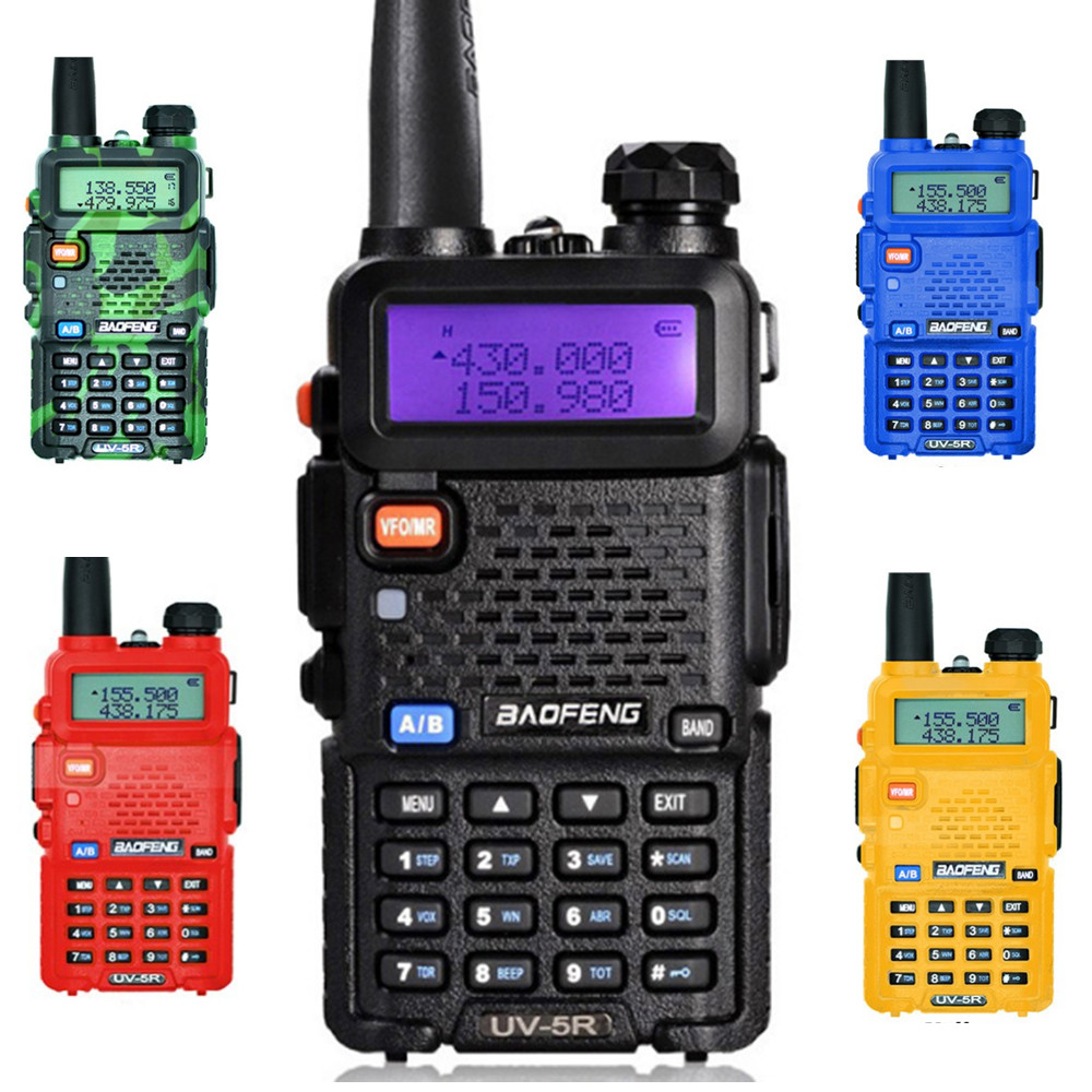 128ch Dualband Vhf 136-174 Mhz & Uhf 400-520 Mhz Talkie Walkie Transceiver Zweiwegradio Tragbare Handheld Wasserdichte Taschenlampe Audio Intercom Türsprechstelle