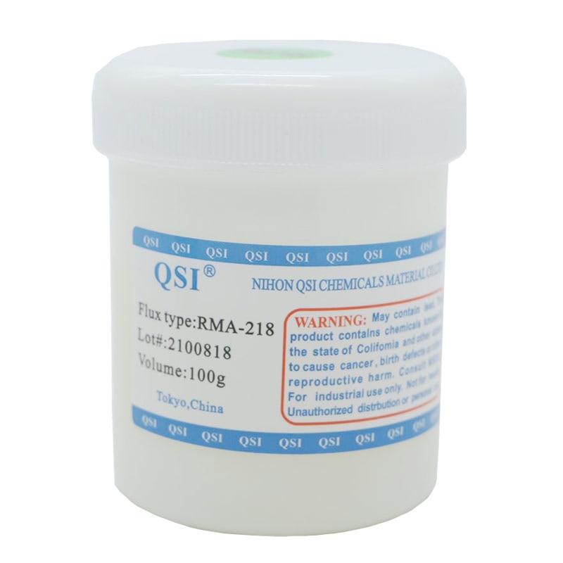 Alta qualidade frete grátis original 100g RMA-218 bga solda fluxo pasta de solda para smt reballing