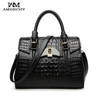 2016 Spring Genuine Leather Bag Crocodile Woman Tote Alligator Ladies Handbags 5 Colors Fashion Shoulder Bags