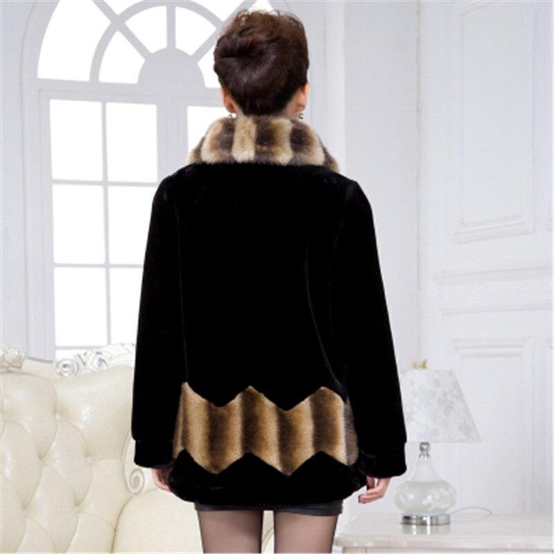 Chaud Dark down Lâche Lz816 Nouvelles Outwear Fourrure Col Femmes Faux long Moyen Solide Turn Moyen Manteau 2019 Complet De D'âge light Hiver Manches 1W0zSSqw