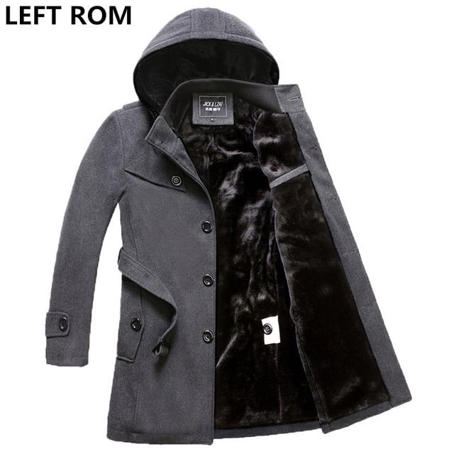 Слева Встроенная память вес 1.6 кг-2.4 Кг Для мужчин утолщение полноценно теплый однобортный плащ/Для мужчин внутри Мао дэн длинная куртка черный 4xl