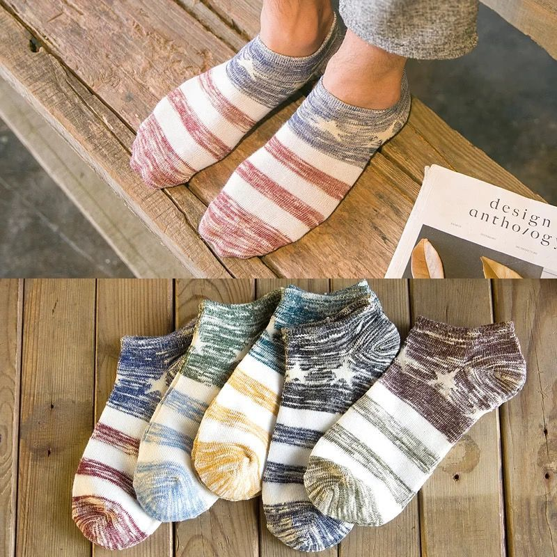 10pcs=5 Pairs/lot Spring Summer Men Cotton Ankle Socks For Men's Business Casual Solid Color Short Socks Male Sock Slippers Meia