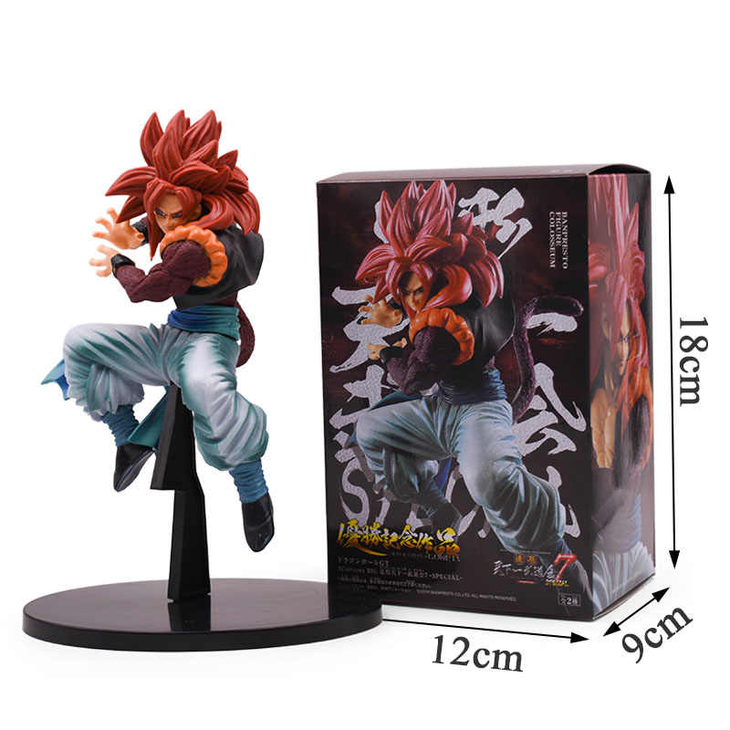 21 centímetros Dragon Ball Super Saiyan Gogeta Son Goku PVC Toy Action Figure Dragon Ball Z Figura Collectible Modelo Coliseu brinquedos
