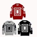 Новая девушка и мальчик пуловеры свитера дети свитер для девочек детского мальчиков зимняя одежда красный костюм бесплатная доставка