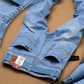 2016 Pantalones Vaqueros de Los Hombres Utr Luz Delgada Fashion Brand Jeans Grandes ventas de Primavera Verano de Moda Los Pantalones Vaqueros Delgados hombres's pantalones