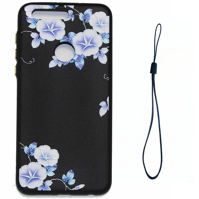 3D Relief flower silicone case huawei honor 8 (2)