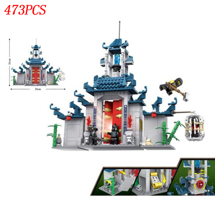 AIBOULLY Ninja series The Temple of The Ultimate Ultimate Weapon Model Building Blocks set Compatible 70617 Toys for children nexo knights series the stone colossus of ultimate destruction model building blocks compatible legoingly toys for children