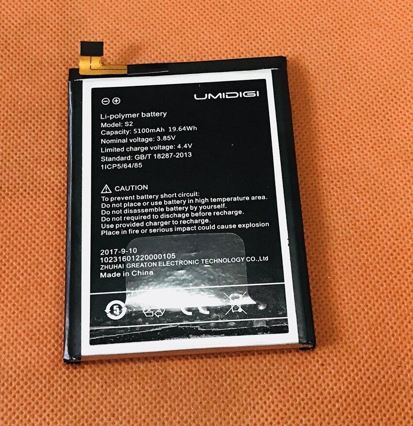 Usado Bateria Batterie Batterij bateria 5100 mAh Original Para S2 Helio UMIDIGI P20 Núcleo octa 6.0