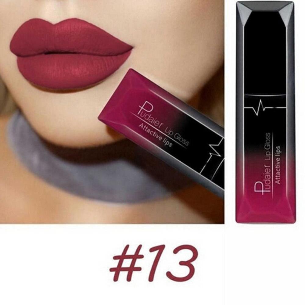 Fashion Women Pudaier Metallic Lipstick Lips Makeup Long Lasting Lock It Cushion Lip Pen 10 Nudi Beige Matte Liquid Waterproof Gloss Labial Velvet Sexy Red Tint