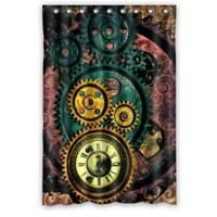 Vintage Design New Style Steampunk Gears Polyester Bathroom Custom Shower Curtain Bathroom Decor Polyester Shower Curtain