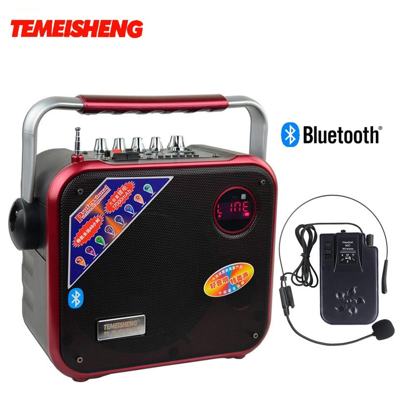 buy a83 60w high power portable bluetooth speaker with wireless microphone. Black Bedroom Furniture Sets. Home Design Ideas