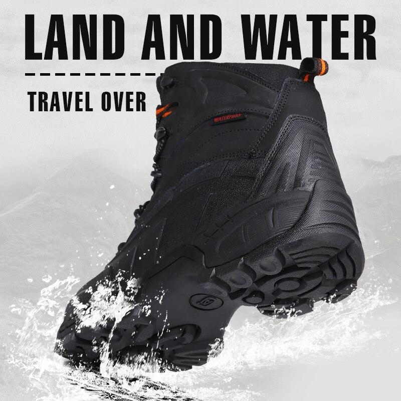 Senderismo Botas colisión Protección Seguridad Con Hoja Hombres Zapatos La De Punta brown Acero Black Hombre Caza Impermeable Anti Hierro zPYX6nw