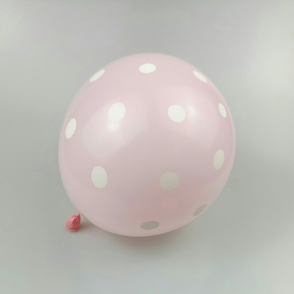 baloon 50pcs/lot12 inch 2.8g round latex light pink wave point ballons babyshower birthday party balloons wedding supplies