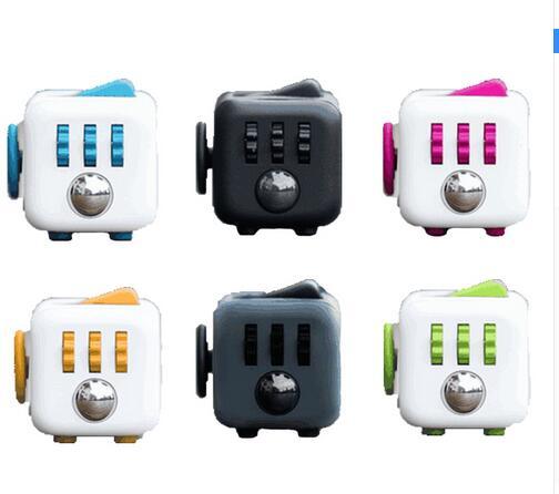 11 colors Magic Fidget Cube a vinyl desk toy 2016 New Fidget Cube anti irritability toy magic cobe Funny Christmas gift stock