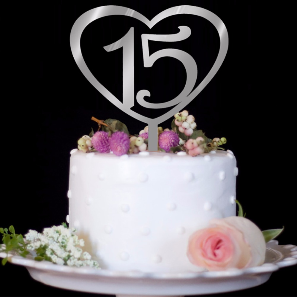 25 30 Bing Website: 1Pc Wood Number Styling 15th/25th/30th/50th Birthday Cake