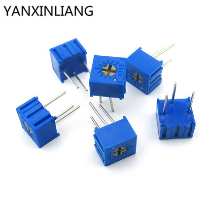 10Pcs/Lot 3362P-1-501LF 3362P 501 <font><b>500</b></font> <font><b>ohm</b></font> Trimpot Trimmer <font><b>Potentiometer</b></font> Variable resistor new original image
