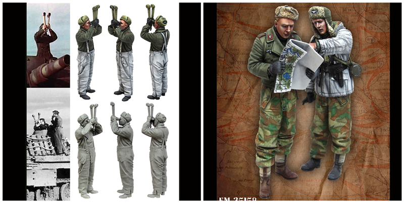 1/35 resin figure wwii german tank soldiers and grenadier soldiers (3pcs/lot )Assembly Unpainted Free shipping 209