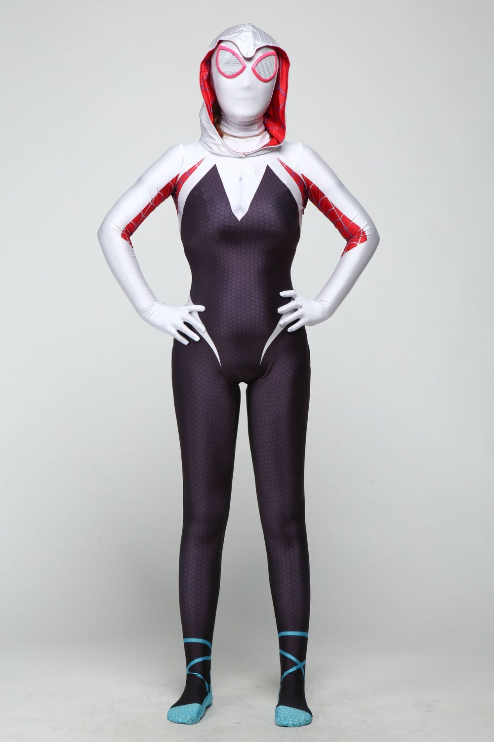 Women child Spider Gwen Stacy 3D Printed Zentai Spiderman Cosplay Costume Spandex Lycra Spider Anti-Gwen Venom Gwenom Bodysuit