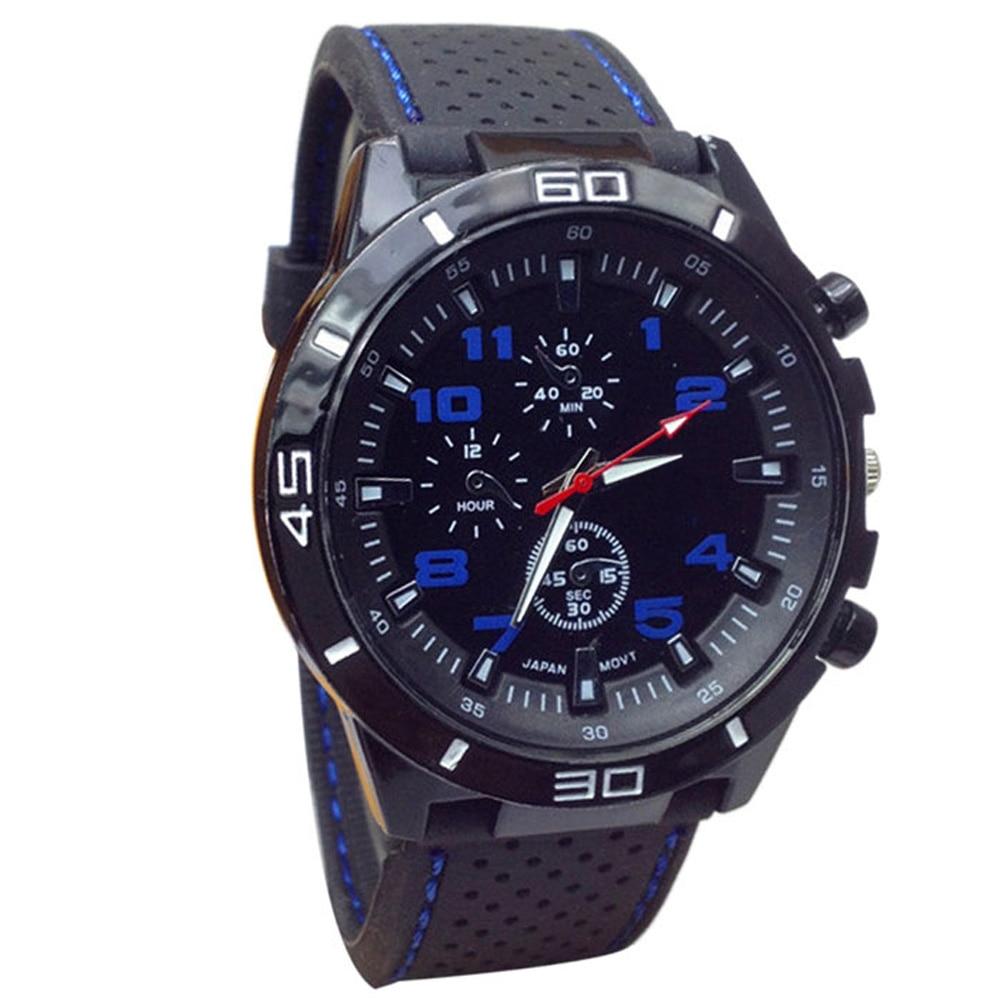 Superior Quartz Watch Men Military Watches Sport Wristwatch Silicone Fashion Hours August 1