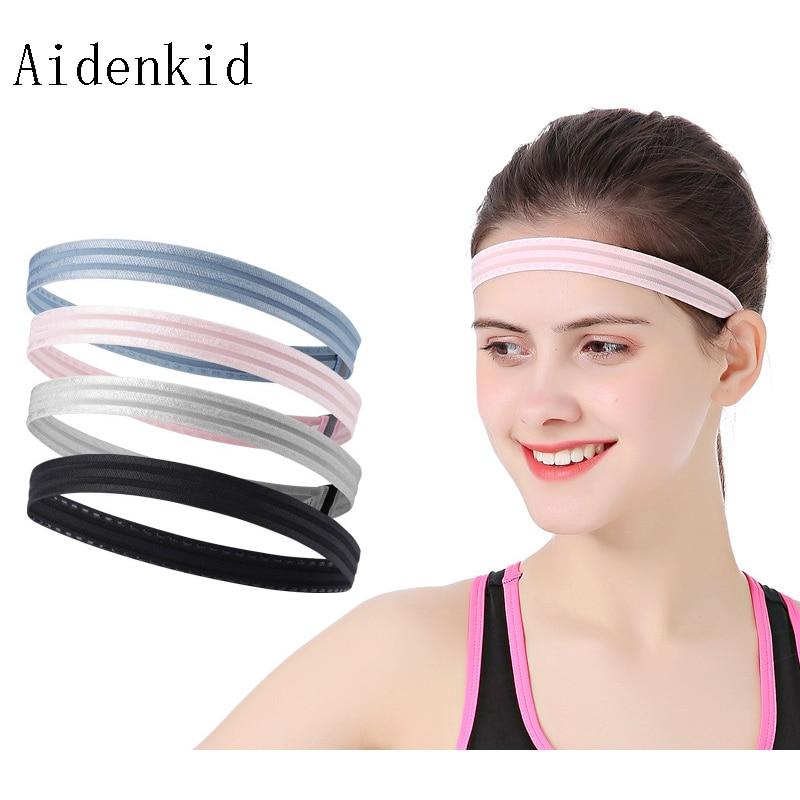 Aidenkid Fashion prevent sweating sports headband ladies riding running fashion silicone sports hair band yoga headband in Yoga Hair Bands from Sports Entertainment