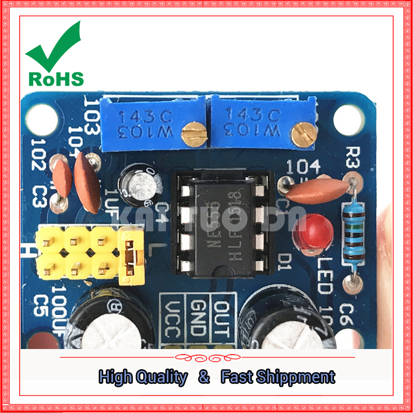 NE555 pulse module frequency duty cycle adjustable square wave rectangular wave signal generator 555 board ne555p