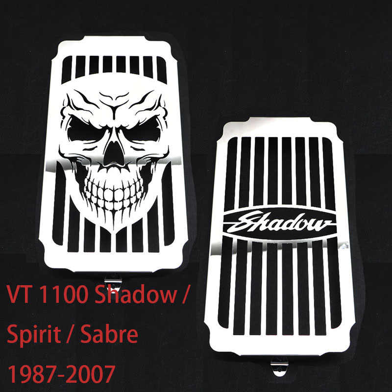 Water Coolant Engine Radiator Grill Grille Tank Cooler guard For Honda VT1100 VT 1100 Shadow Spirit Sabre 1987 - 2007 2006 2005