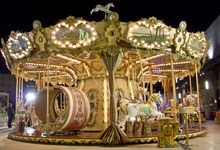 Laeacco Baby Amusement Carousel Night Scenic Photography Backgrounds Customized Photographic Backdrops For Photo Studio