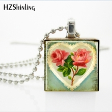 Buy scrabble tile pendant and get free shipping on aliexpress 1 pc gift for valentines day jewelry shabby chic heart and roses scrabble tile pendant necklace mozeypictures Gallery