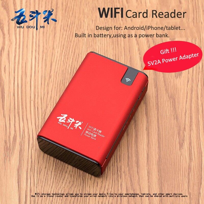 Lector de tarjetas inalámbrico USB Hub RJ45 Puerto 3G Hotspot WiFi Router externo del Banco de la energía 6000 MAH para cualquier teléfono inteligente Tablet PC portátil