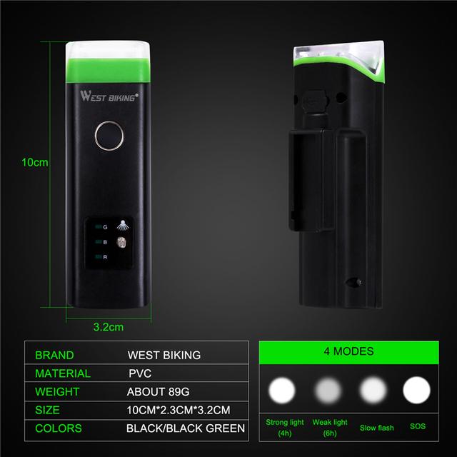 Bright Front Waterproof USB Induction Flashlight