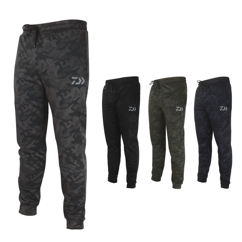 Men Anti-UV Camo Fishing Pants Sunscreen Windproof Fishing Trousers Quick-drying Breathable Outdoor Sports Pants