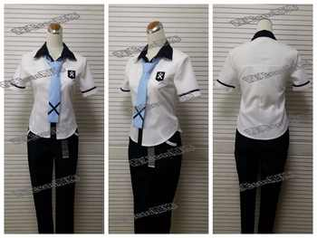 Anime Kiznaiver cosplay Agata Katsuhira/Yuta Tsuguhito cos summer JK School uniforms Unisex costume  (shirt+pants+tie+belt) - DISCOUNT ITEM  15% OFF All Category