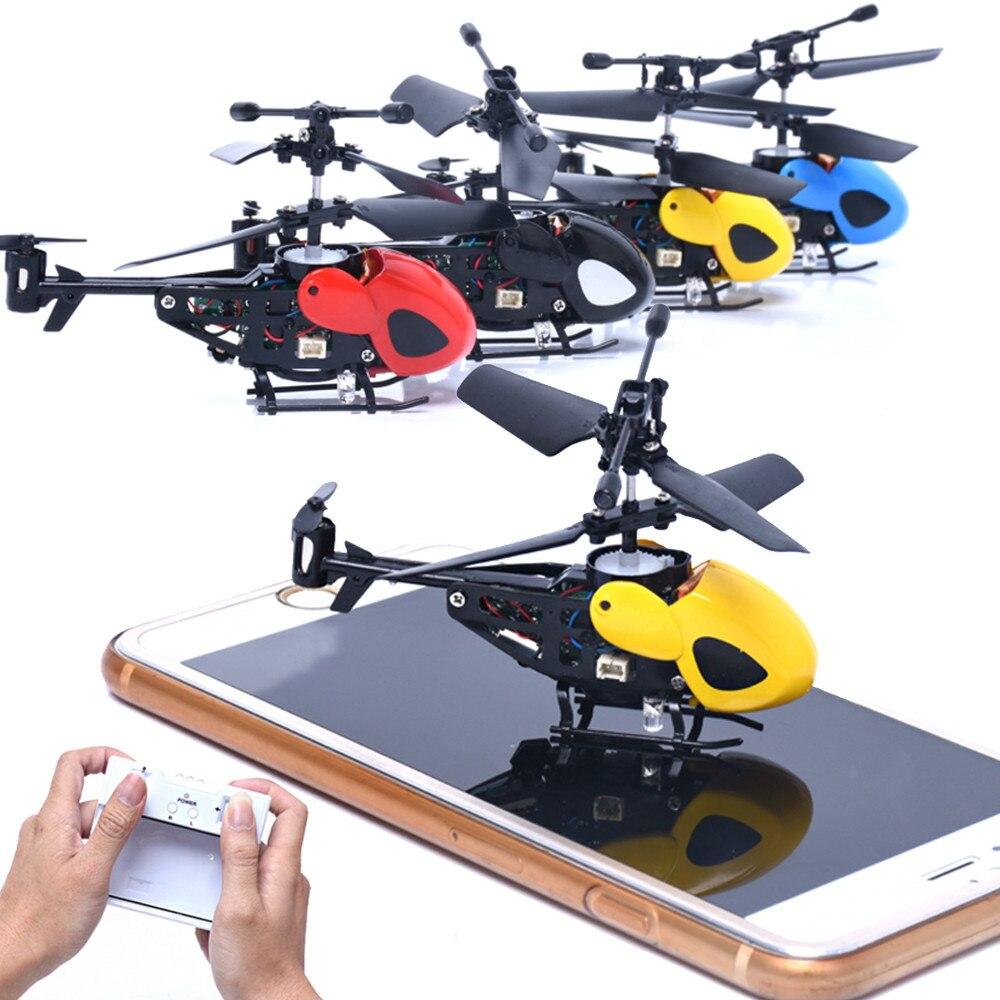 RC 2CH Mini helicóptero de Radio de Control remoto Micro 2 canal juguete máquina Exterior Juguetes gota
