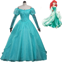newest adult The Little Mermaid princess Ariel Dresses Women cosplay Halloween Party Costumes