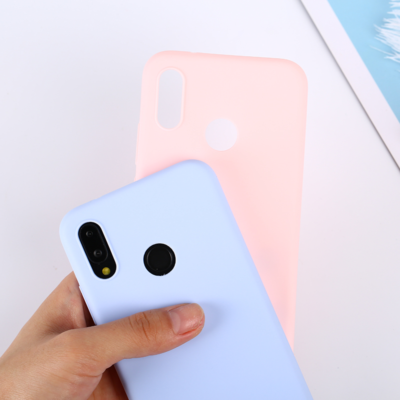 Candy Color Case for Huawei Y6 Y9 Y5 Prime 2018 P20 P9 P10 Mate 10 Lite Honor 10 9 Lite 7C 7A Pro 7X P Smart Soft Silicon Cases in Fitted Cases from Cellphones Telecommunications