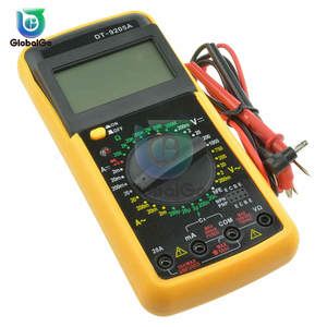 Digital Multimeter Tester Cable-Probe Dt9205a Lcd Capacitance Electric Amp Ohm Ac/Dc