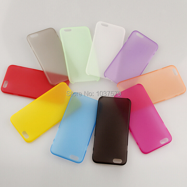 quality design 38dc1 56fca US $9.67  Aliexpress.com : Buy For Cell Phone Ultra Thin Translucent Case  Cover For Apple iPhone 6 4.7 Slim Case Clear 10 Colors Hot Crystal PP Case  ...