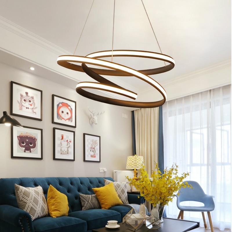 Modern Led Living Dining Room Pendant Lights Suspension