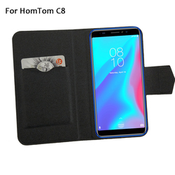 На Алиэкспресс купить чехол для смартфона 5 colors hot! homtom c8 case phone leather cover,factory price protective full flip stand leather phone shell cases